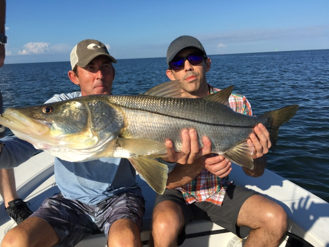 Dr. Steven Flores with a big snook